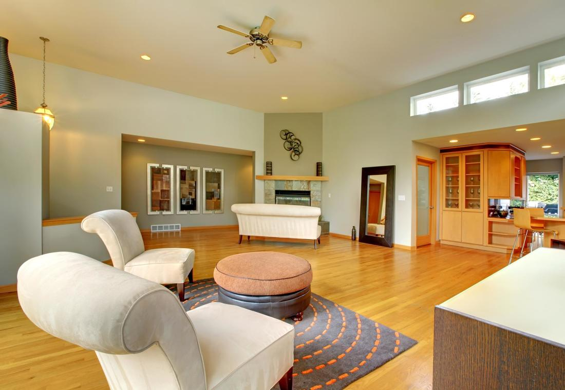 This is a picture of a home with hardwood flooring.