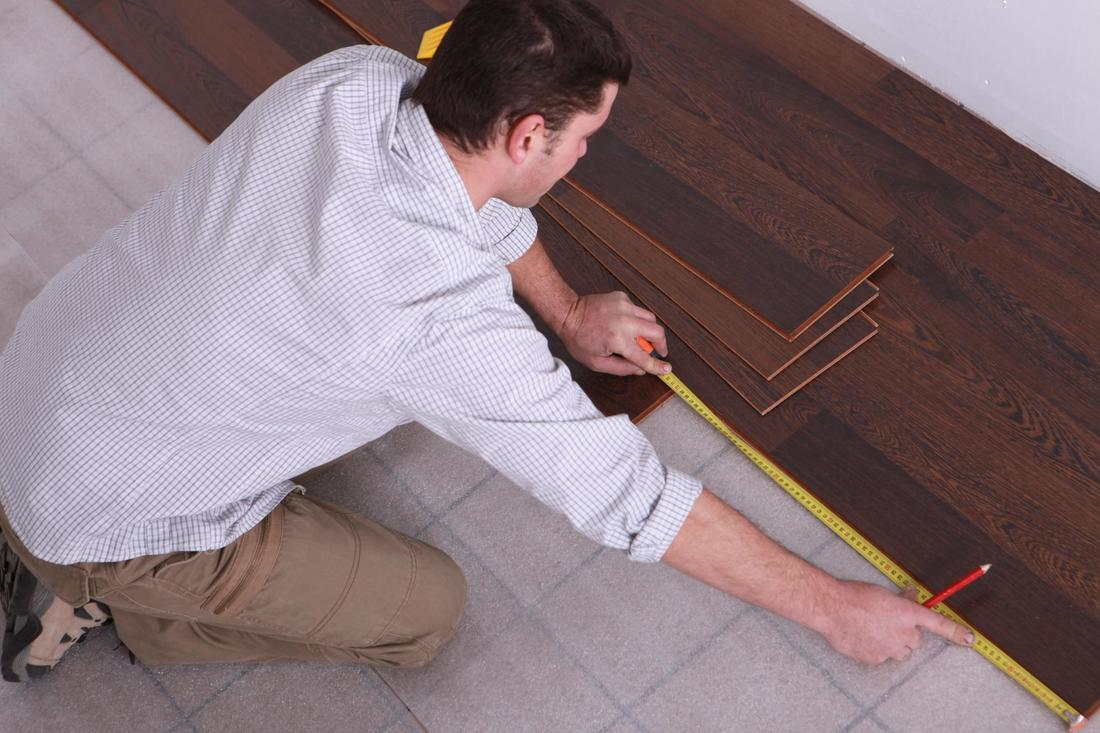 This is a picture of a hardwood floor installation.